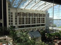 Gaylord National Harbor Balcony View. This shows the balcony rooms from the Royalty Free Stock Photography