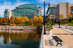 The Gaylord National Resort, seen from a pier in the Potomac Riv Royalty Free Stock Photos