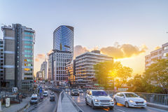 Gayrettepe, Istanbul. Istanbul, Turkey - May 6, 2016: Gayrettepe Zincirlikuyu district in European side of Istanbul. The area is a business center with towers Royalty Free Stock Images