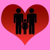 Gays. Couple of gays with a daughter Royalty Free Stock Image