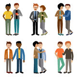 Gays couple. Lgbt. Tolerance. Vector Stock Photography