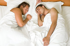 Gays sleeping Royalty Free Stock Photography