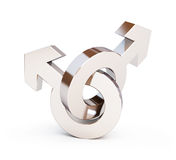 Gays symbol. On a white background Stock Images