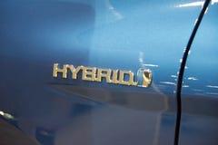 Gaz au véhicule hybride électrique Image libre de droits