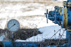 Gaz d'ardoise ou équipement de pétrole Photo libre de droits