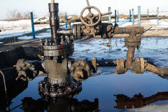 Gaz d'ardoise ou équipement de pétrole Image stock