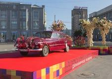 GAZ-12 on the day of Novosibirsk stock image