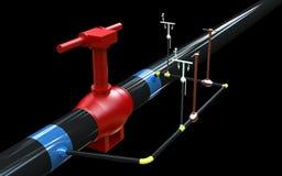 gaz de la grue 3D Images libres de droits