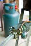 gaz de valve Images stock