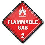 Gaz inflammable de danger illustration stock