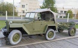 Gaz-67-, kommandobil (USSR), 1942 max hastighet km/h-90 Royaltyfria Bilder