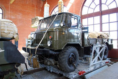 GAZ-66 on a landing platform. Exhibit of the technical museum of K.G.Sakharov. Togliatti. Russia Royalty Free Stock Photography