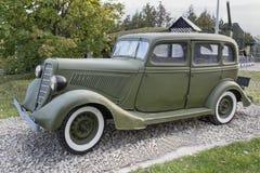 Gaz-M1-, personalbil (USSR), 1936 max hastighet km/h-105 Royaltyfria Bilder