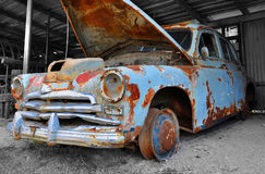 Gaz M20 Pobeda junk car Stock Photography