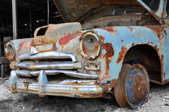 Gaz M20 Pobeda junk car Royalty Free Stock Photography