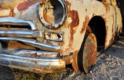 Gaz M20 Pobeda junk car Stock Photos