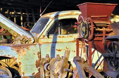 Gaz M20 Pobeda junk car Stock Photo