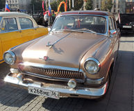 GAZ M21 Volga of the Series Three brown color Stock Images