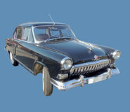GAZ M21 Volga of the Series Two black color isolated Stock Photos