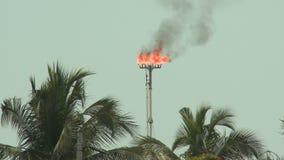 Gaz naturel brûlant clips vidéos