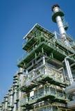 gaz résiduel d'incinérateur dans la centrale pétrochimique images stock
