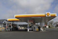 GAZ STION DE SHELL Photo stock