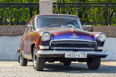 GAZ-21 on a street , St. Petersburg, Russia Royalty Free Stock Images