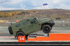GAZ Tigr. NIZHNY TAGIL, RUSSIA - SEP 26, 2013: The international exhibition of armament, military equipment and ammunition RUSSIA ARMS EXPO (RAE-2013). GAZ Tigr Royalty Free Stock Images