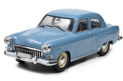 Gaz Volga M-21 I - 1958. Model of russian car on a white background, side view Royalty Free Stock Photos