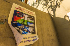 Gaza affischer Arkivfoto