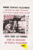 Gaza bajo carteles de las bombas Fotos de archivo libres de regalías