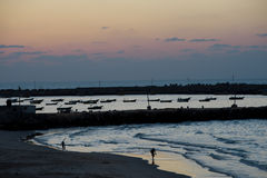 Gaza Beach at Dusk Stock Photography