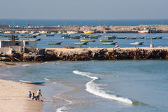 Gaza Beach and Fishermen Royalty Free Stock Image