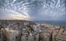 Gaza City, around sunset on a good day. royalty free stock image