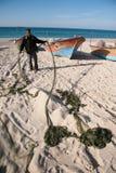 Gaza fisherman stock image