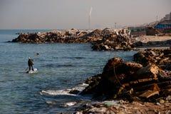 Gaza Fisherman and Shoreline royalty free stock photos