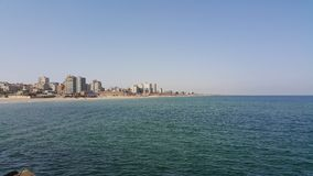 Gaza hav arkivfoto