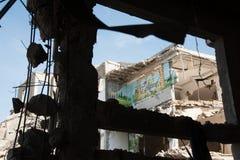 Gaza kriger skada royaltyfria foton
