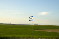 Gaza strip with Israeli flag in-front Stock Photography