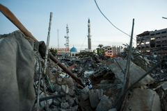 Gaza war damage Royalty Free Stock Images