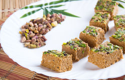 Gazak o Gajak dulce indio Fotos de archivo