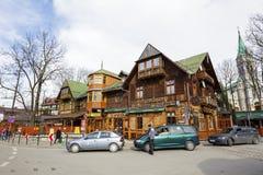 Gazdowo-Kuznia餐馆在Zakopne 免版税库存图片