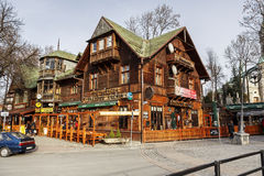 Gazdowo kuznia in historic building in zakopane Stock Image