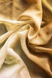 Gaze de seda amarela amarrotada Imagens de Stock Royalty Free