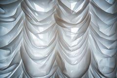 Gaze de seda branca do tule foto de stock