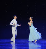 Gaze into each other-doga waltz-the Austria's world Dance. Late on January 9, 2015, brought by Austria World Dance World Dance staged in Jiangxi Province Arts stock photo