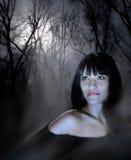 Gaze of the magic woman stock image