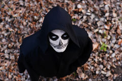 Gaze. A man in the character of  Grim Reaper Royalty Free Stock Photos