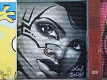 Gaze. Street art mural at Brooklyn, NY Royalty Free Stock Image