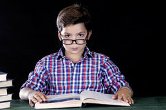 Gaze of a young student Stock Images